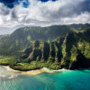 Aerial view of vulcanic island of Hawaii