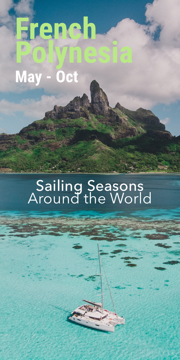 Pinterest image for The Sailing Seasons Around the World (with Map)
