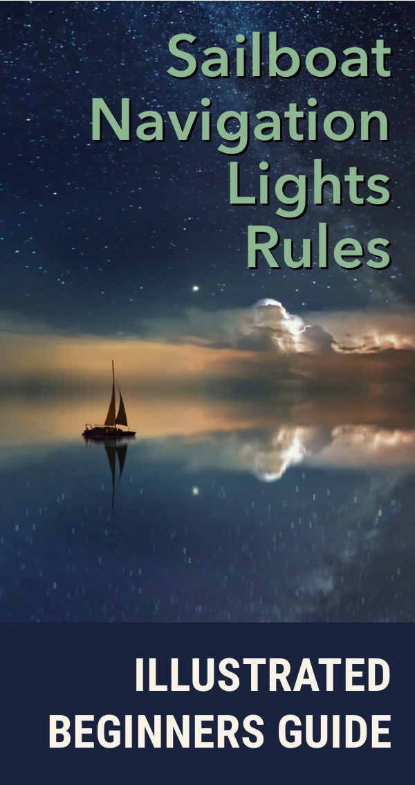 Pinterest image for Boat Navigation Lights Rules: Illustrated Beginners Guide