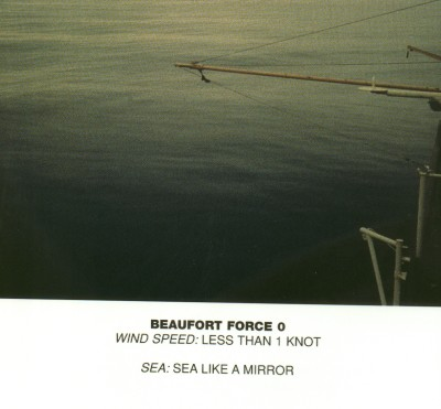 Mirror-like sea at Beaufort force 0