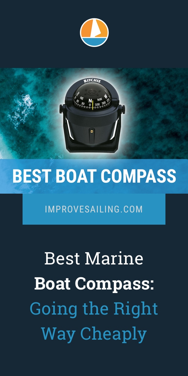 Pinterest image for Best Marine Compass: Going the Right Way Cheaply