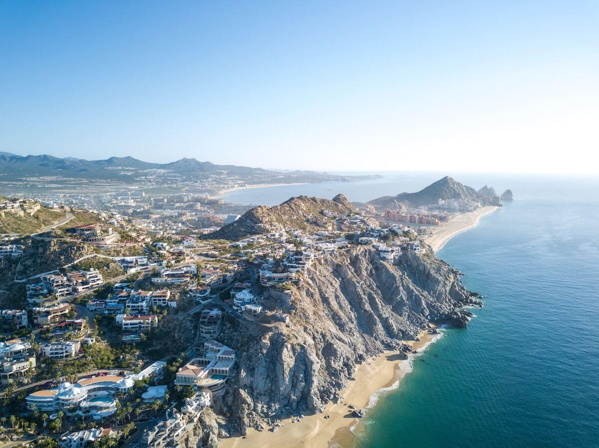 Aerial view of Cabo, Bay of California (Baja California)