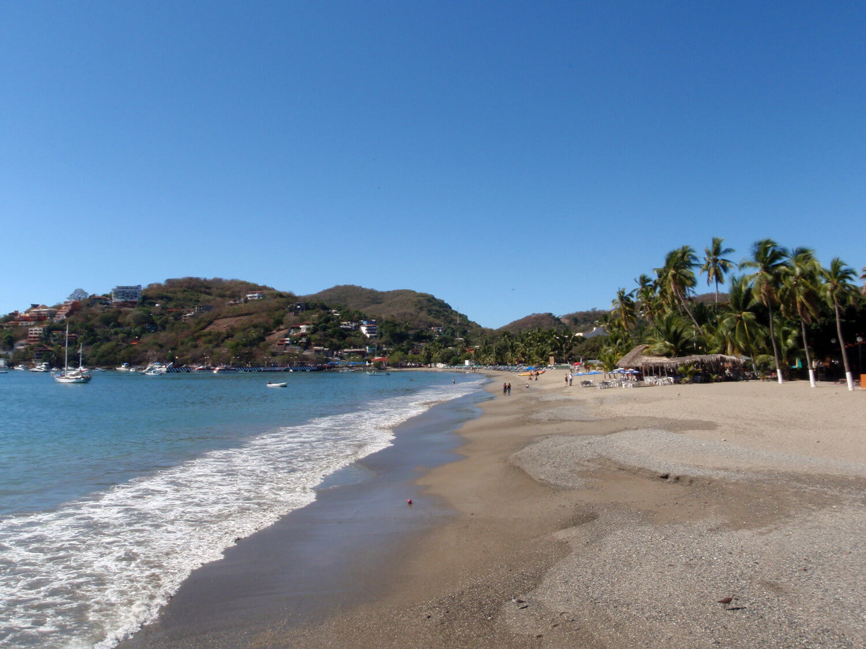 Beach in Zihautanejo, West Coast of Mexico