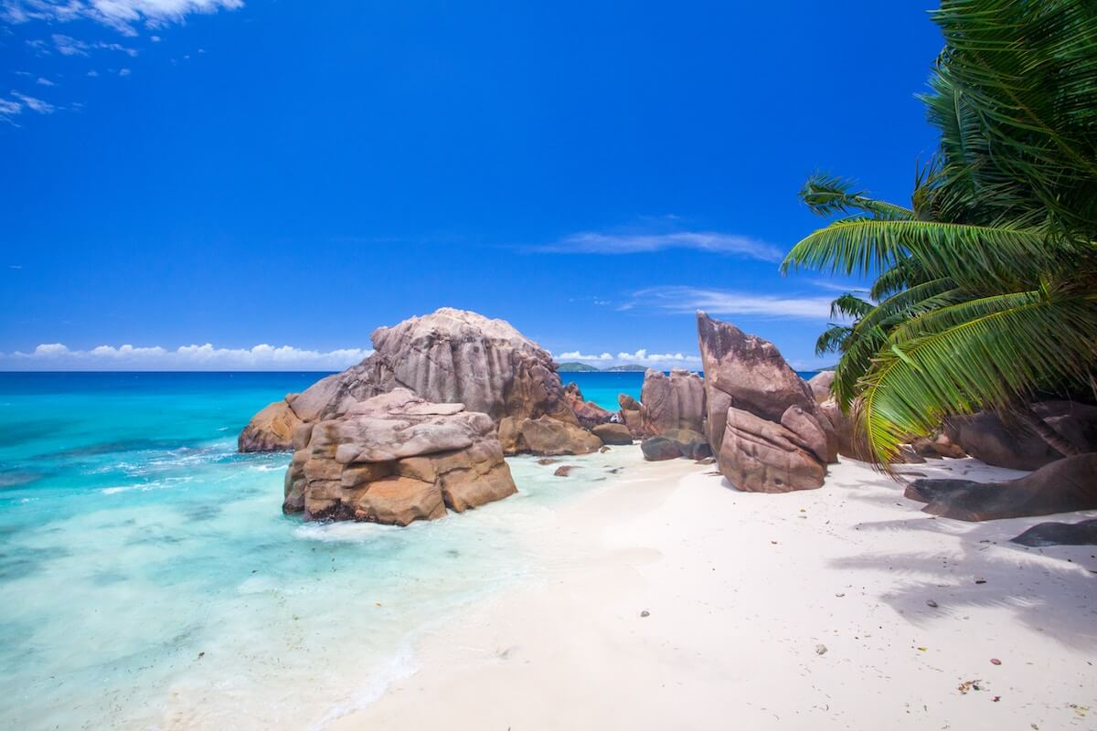 Tropical shore at Mahé, Seychelles