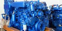 Blue Industrial Marine Diesel Engine