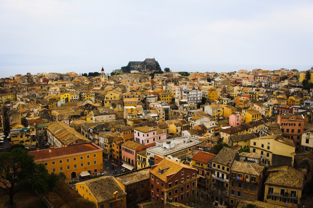 The city of Corfu from above